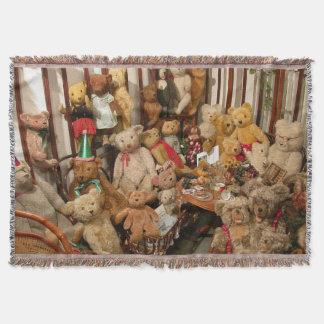 Group Of Teddybears Throw Blanket