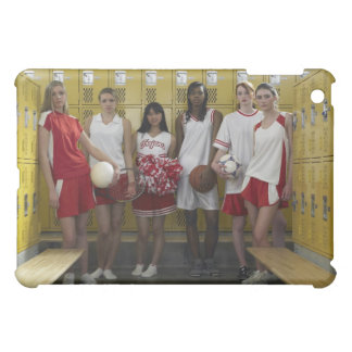 Group of teenage girls (15-17) standing in cover for the iPad mini