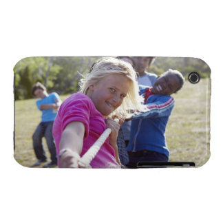Group of teenagers, aged 13,  pulling together iPhone 3 Case-Mate case