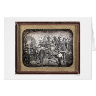 Group of Twenty-three Miners at Sluice [ca. 1852] Greeting Card