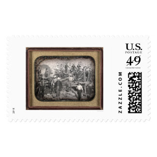 Group of Twenty-three Miners at Sluice [ca. 1852] Postage Stamps