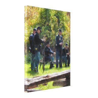 Group of Union Soldiers Canvas Prints