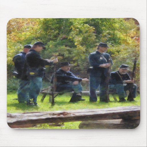 Group of Union Soldiers Mouse Pad