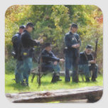 Group of Union Soldiers Square Stickers