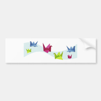 Group of various Origami swan Bumper Sticker