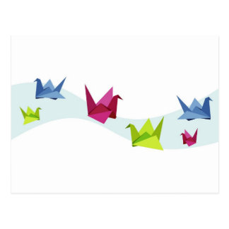 Group of various Origami swan Postcard