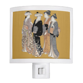 Group of Vintage Japanese Geisha Women Night Light
