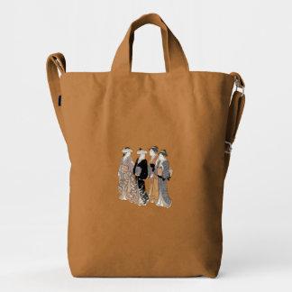 Group of Vintage Japanese Geisha Women Duck Canvas Bag