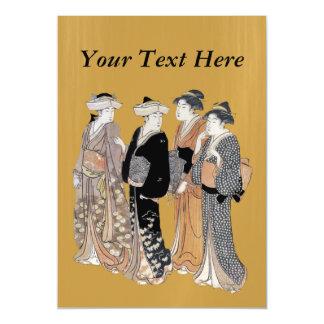 Group of Vintage Japanese Geisha Women Magnetic Card