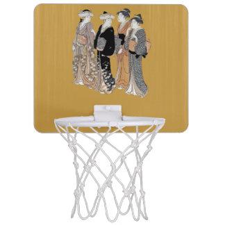 Group of Vintage Japanese Geisha Women Mini Basketball Backboards
