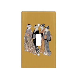 Group of Vintage Japanese Geisha Women Switch Plate Covers