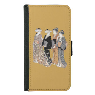 Group of Vintage Japanese Geisha Women Wallet Phone Case For Samsung Galaxy S5