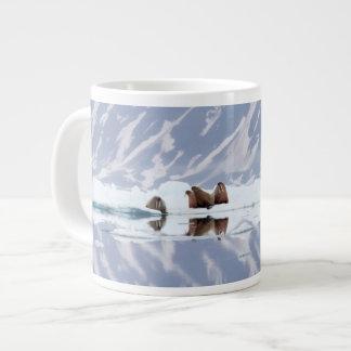Group of Walruses on Ice Large Coffee Mug