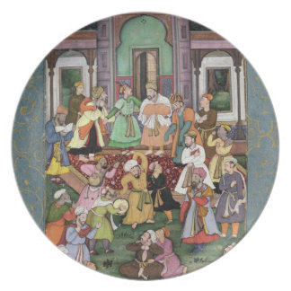 Group of Whirling Dervishes, from the Large Clive Melamine Plate