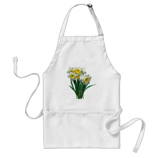 Group of White Daffodils Aprons