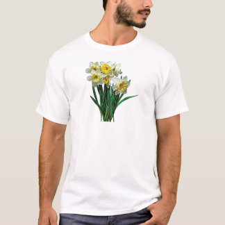 Group of White Daffodils Mens T-Shirts