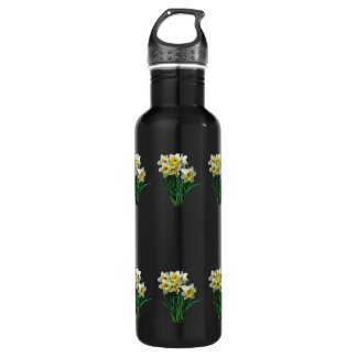 Group of White Daffodils 24oz Water Bottle
