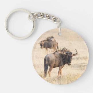 Group of wildebeest keychain