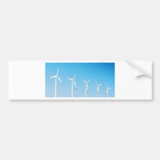 Group of wind turbines bumper sticker
