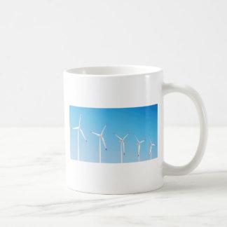 Group of wind turbines coffee mug