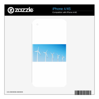 Group of wind turbines decal for iPhone 4