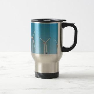 Group of wind turbines travel mug