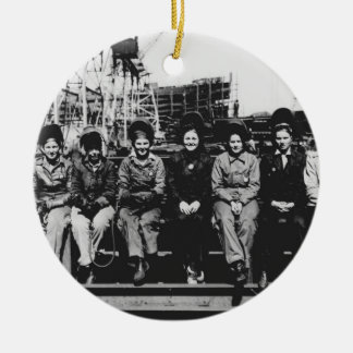 Group of Women Welders During World War Two Ceramic Ornament