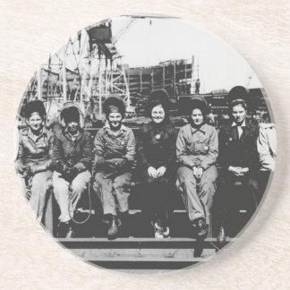 Group of Women Welders During World War Two Drink Coaster