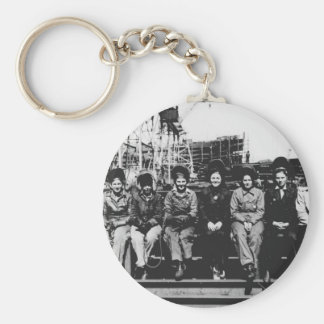 Group of Women Welders During World War Two Keychain