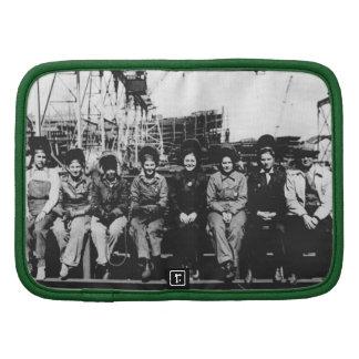 Group of Women Welders During World War Two Folio Planner