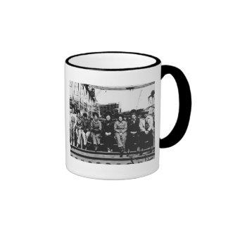 Group of Women Welders During World War Two Ringer Mug