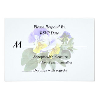 Group Of Yellow And Purple Pansies Wedding Product Card