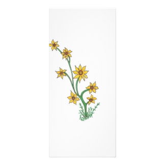 group of yellow flowers custom rack cards
