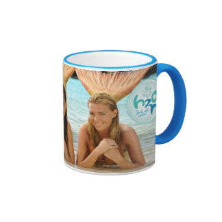 Group On The Beach Ringer Mug