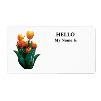 Group Orange Tulips Custom Shipping Label