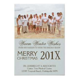Group Photo Beach Holiday Wishes Personalized Invites