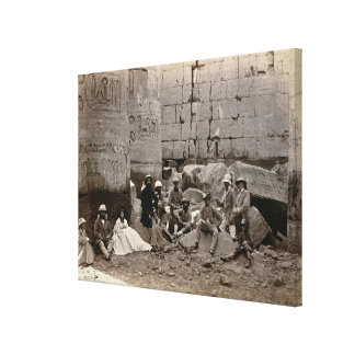 Group photograph in the Hall of Columns, Karnak, T Canvas Print