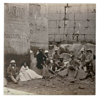 Group photograph in the Hall of Columns, Karnak, T Tile