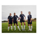 group portait of teen girl soccer players poster
