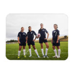 group portait of teen girl soccer players rectangle magnet