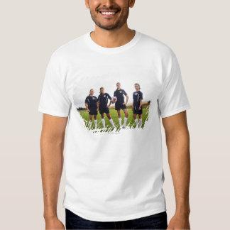 group portait of teen girl soccer players shirt