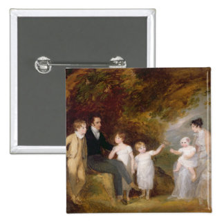 Group Portrait in a Wooded Landscape Button