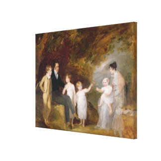 Group Portrait in a Wooded Landscape Canvas Print