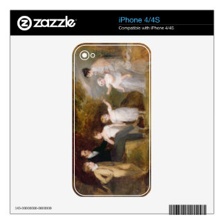 Group Portrait in a Wooded Landscape Skins For The iPhone 4