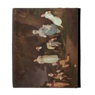 Group portrait of a Squire, his Wife and Children iPad Folio Cover