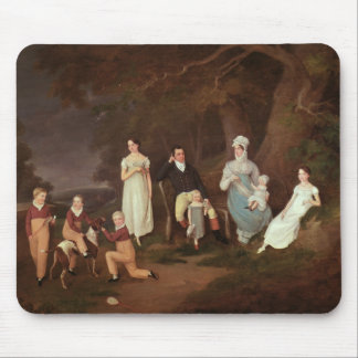 Group portrait of a Squire, his Wife and Children Mouse Pad