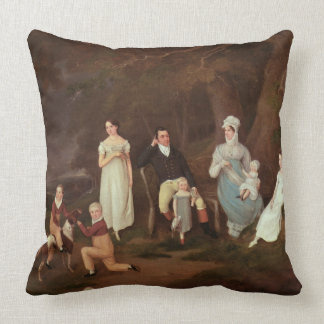 Group portrait of a Squire, his Wife and Children Pillows