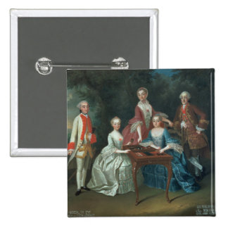 Group portrait of the Harrach family playing Buttons