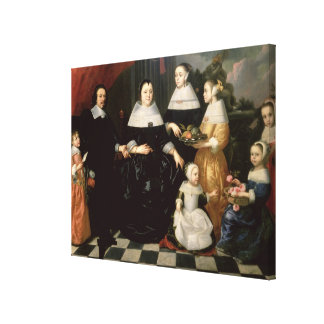 Group Portrait said to be the Kuysten Family Canvas Print