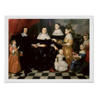 Group Portrait said to be the Kuysten Family Poster